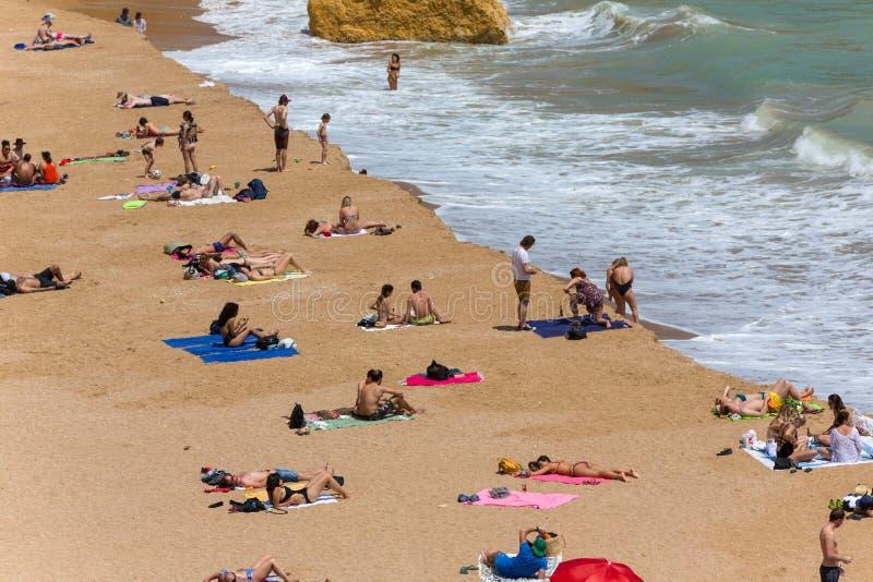 Praia Dona Ana stockfotografie