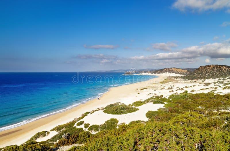 Praia dourada, península de Karpas, Chipre norte fotografia de stock