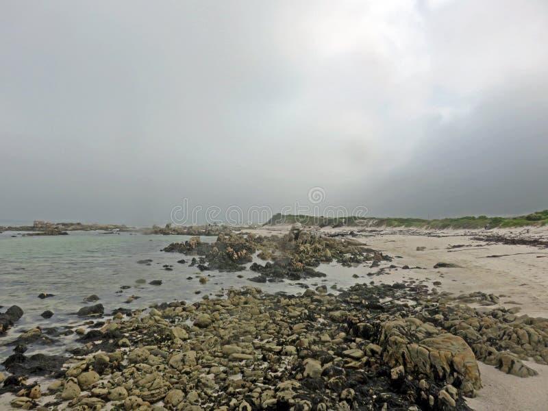 Praia e céu da ninhada foto de stock
