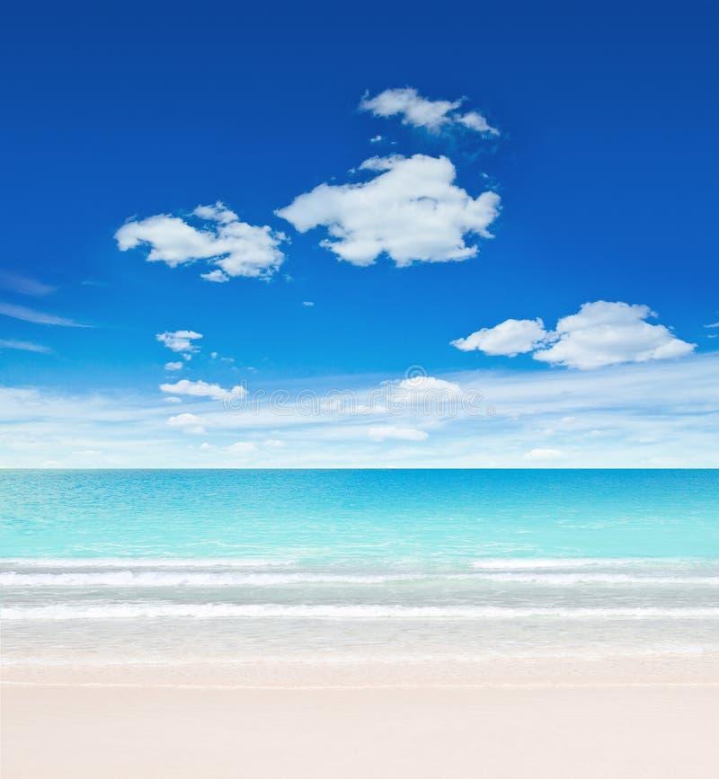 Download Praia e céu tropicais imagem de stock. Imagem de coastline - 26517361