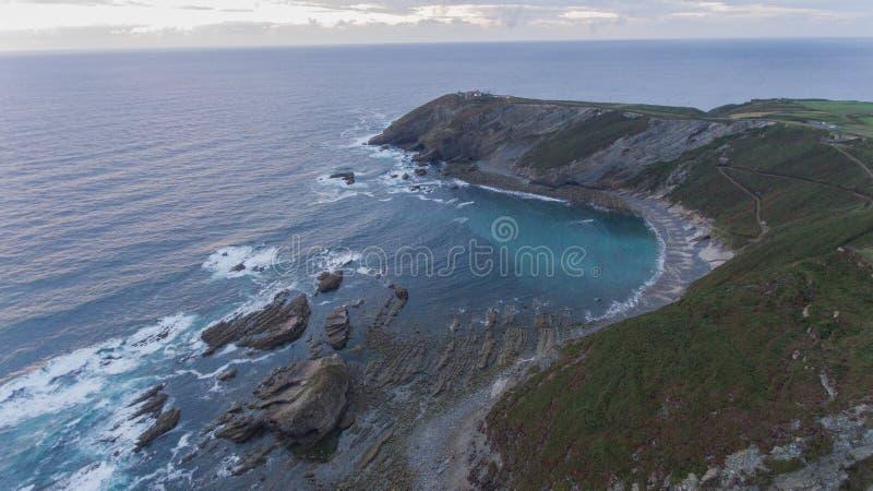 Praia e cabo espanhóis foto de stock royalty free