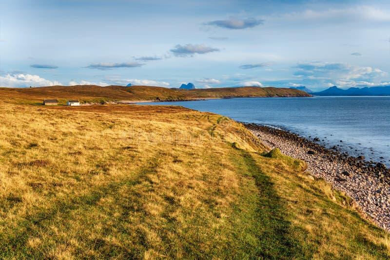A praia e a costa de Raffin fotografia de stock royalty free