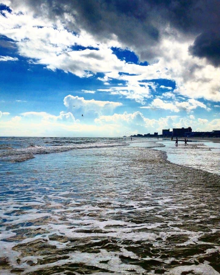 Praia e edifícios de Florida foto de stock royalty free