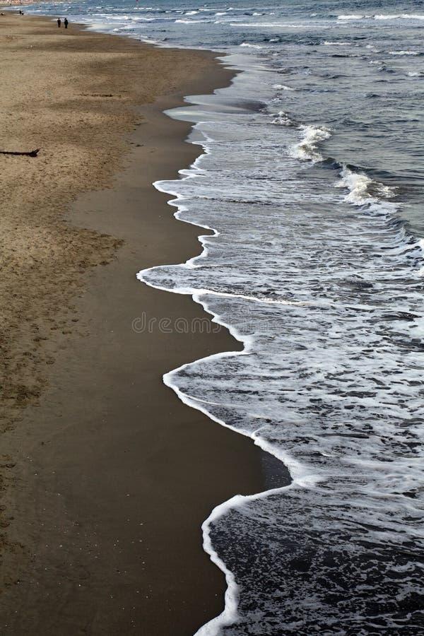 Praia e mar, Viareggio, Itália fotos de stock