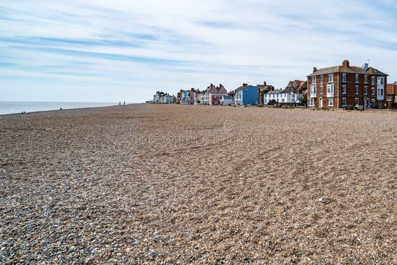 Praia em Aldeburgh, Inglaterra imagem de stock