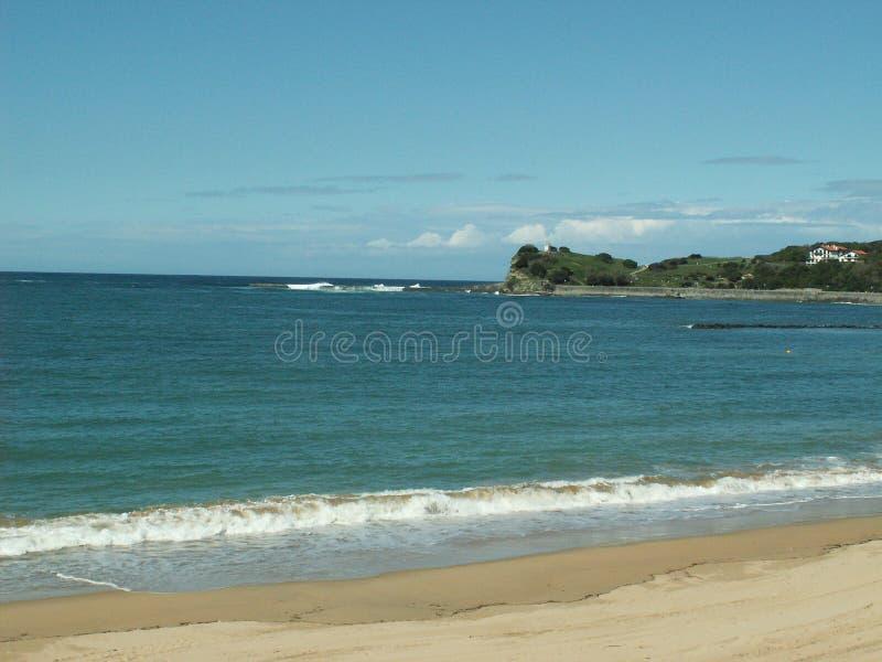 Praia em Anglet, France imagem de stock