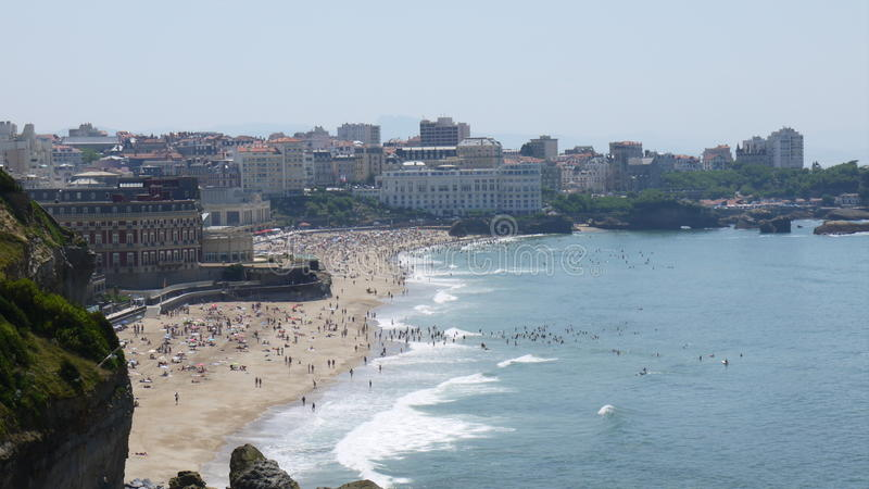 Praia em Biarritz imagens de stock