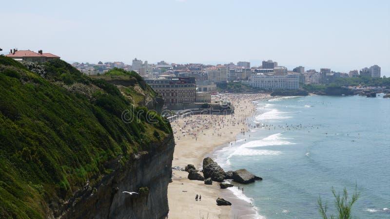 Praia em Biarritz imagem de stock