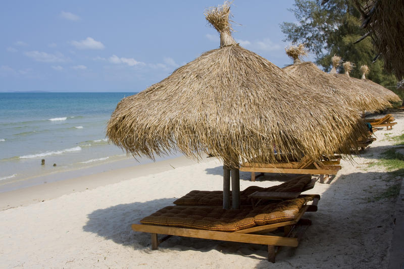 Praia em Cambodia foto de stock royalty free