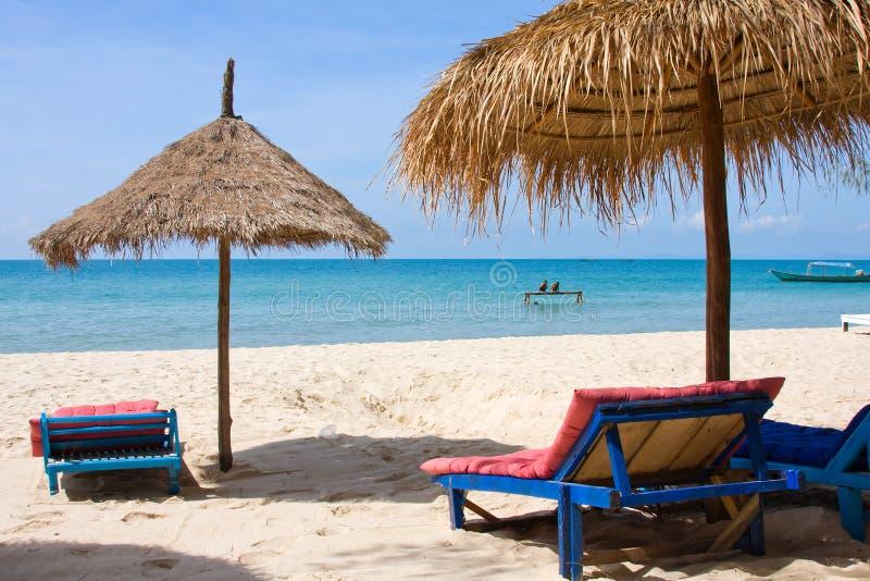 Praia em Cambodia fotografia de stock
