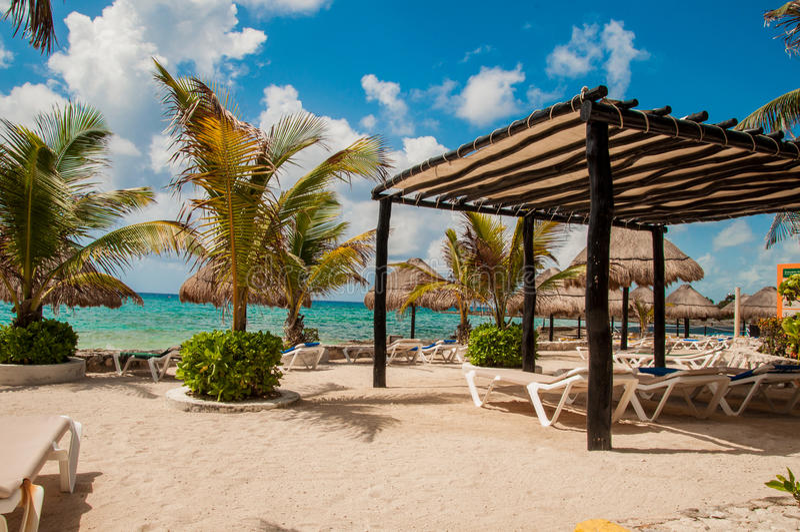 Praia em Costa Maya fotografia de stock