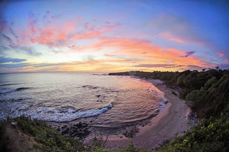 Praia em Costa-Rica fotografia de stock royalty free