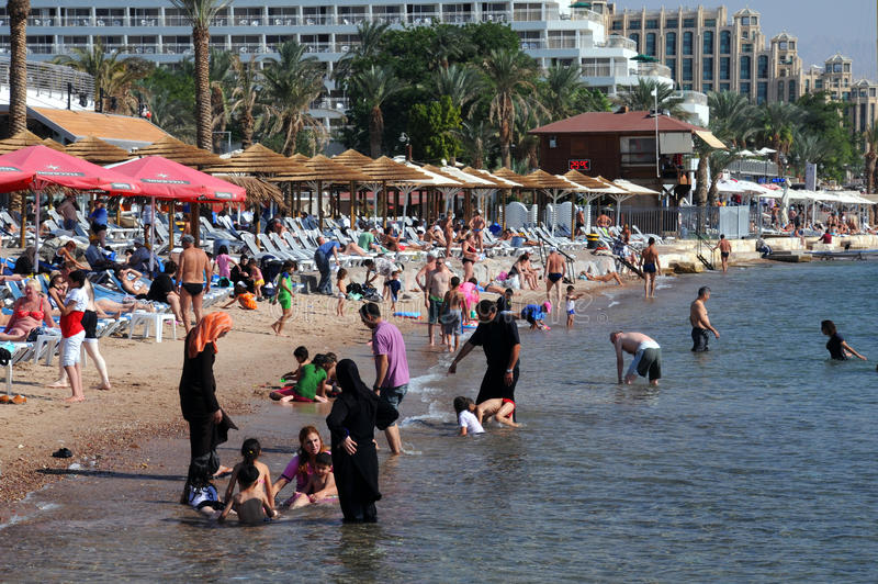 Praia em Eilat imagem de stock royalty free
