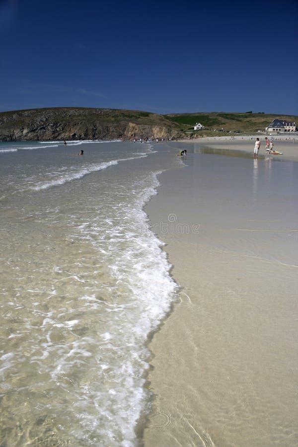 Praia em Finistere, Brittany imagens de stock royalty free