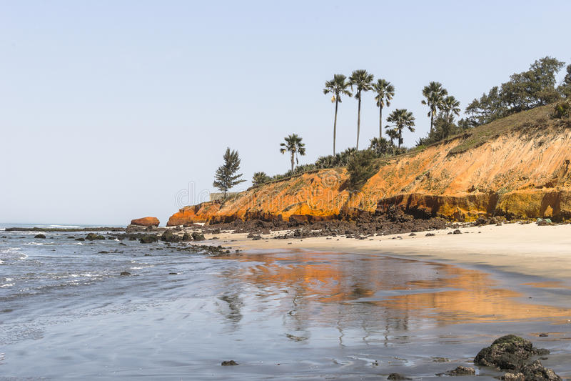 Praia em Gâmbia fotos de stock
