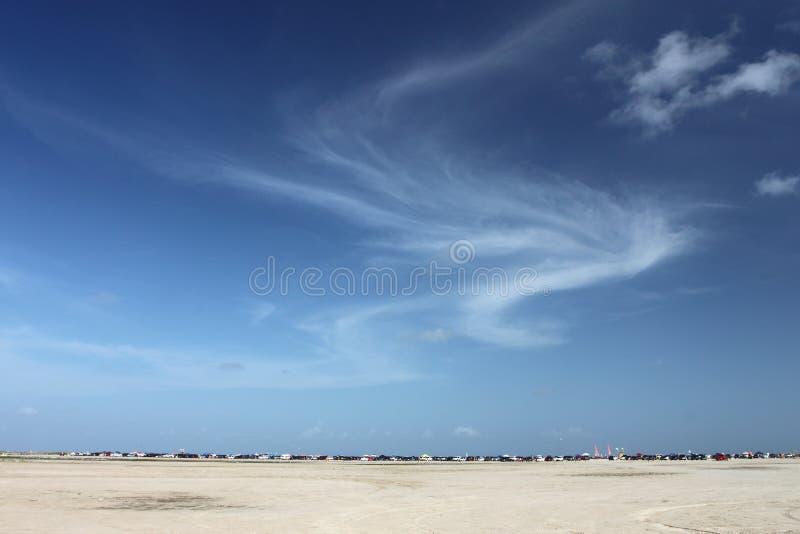 Praia em Galveston, Texas fotos de stock
