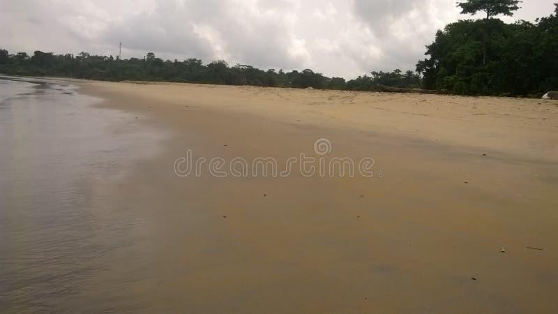 Praia em Kribi (lobé) fotografia de stock