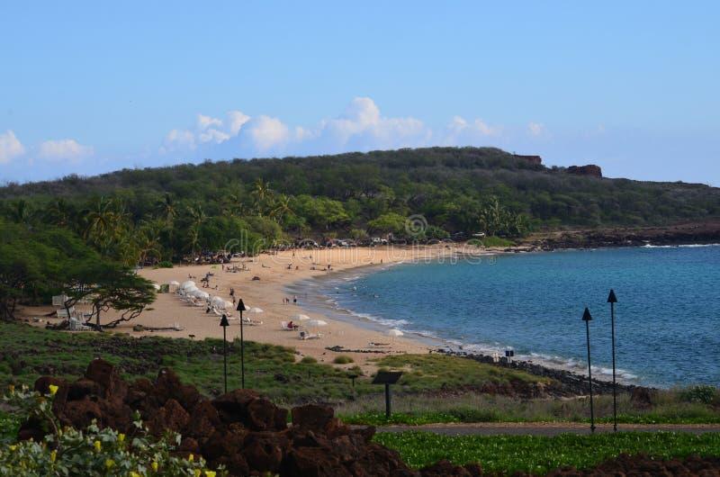 Praia em Lanai, Havaí imagem de stock