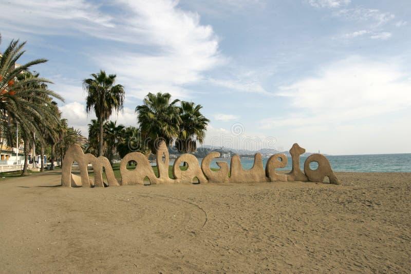 Praia em Malaga fotografia de stock royalty free