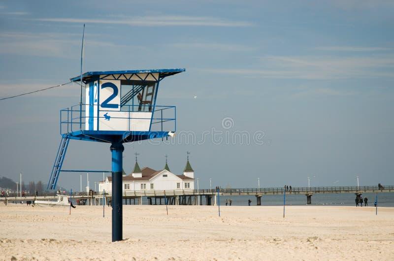 Praia em Mecklenburg, Alemanha foto de stock