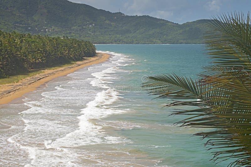 Praia em Patillas, Porto Rico foto de stock royalty free