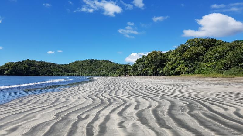 Praia em Playa Hermosa Boca Chica imagem de stock