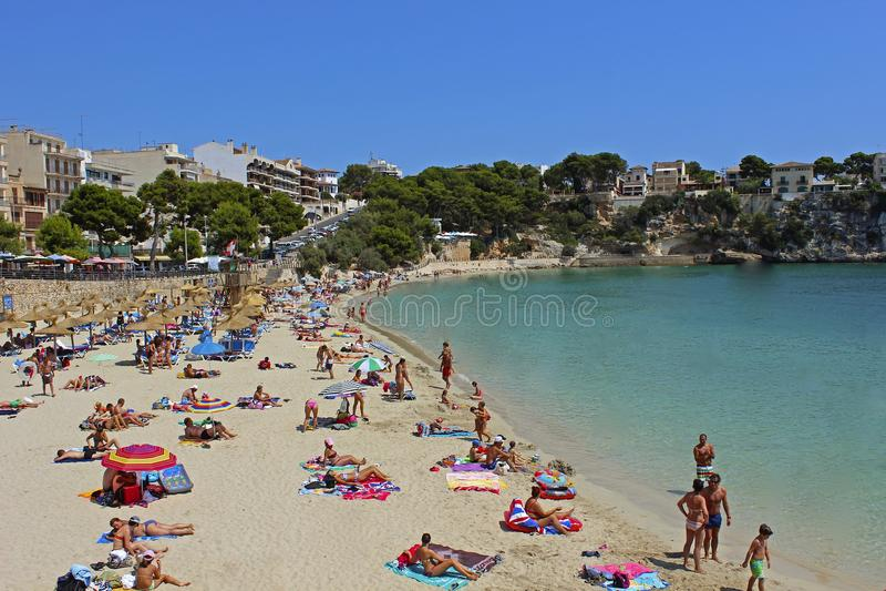 Praia em Porto Cristo, MAllorca, Europa foto de stock