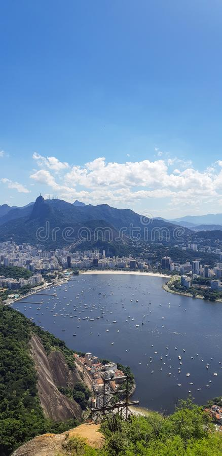 Praia em Rio de janeiro, Brasil imagem de stock