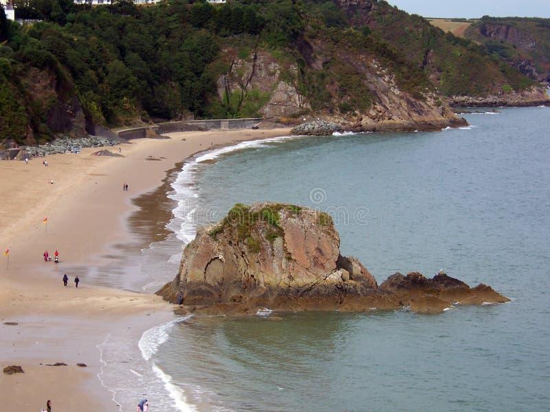 Praia em Tenby foto de stock royalty free