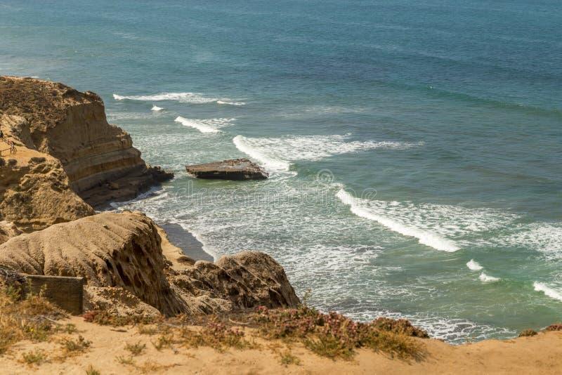 Praia em Torrey Pines fotos de stock