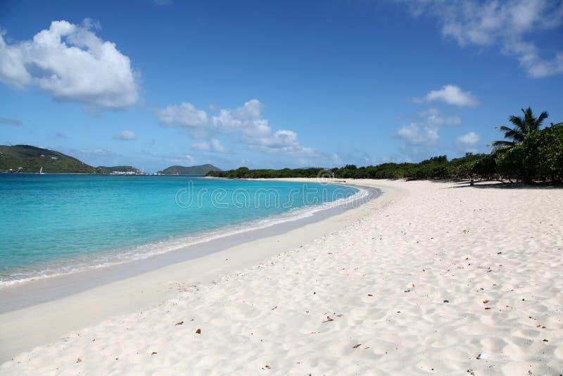 Praia em Tortola, BVI fotografia de stock