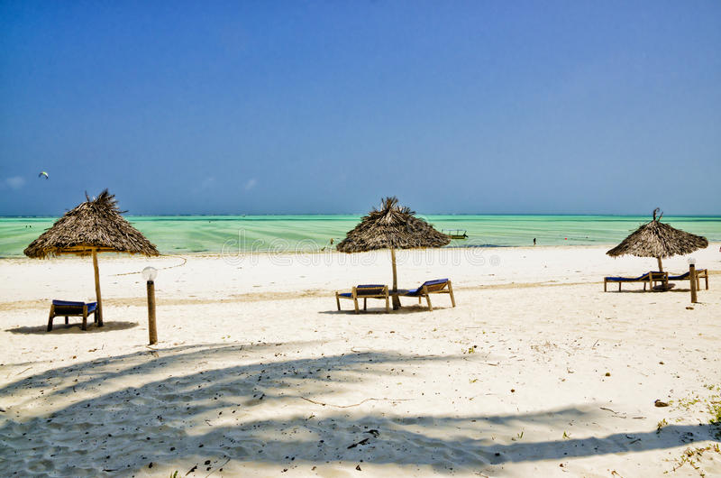 Praia em Zanzibar fotografia de stock royalty free