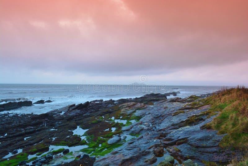 Praia escocesa foto de stock royalty free