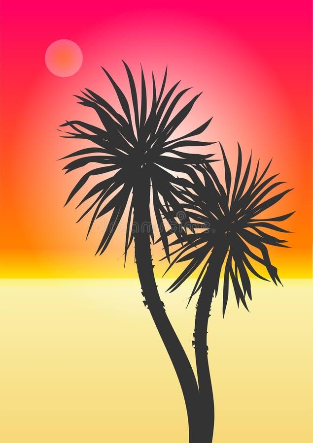 Praia exótica ilustração royalty free