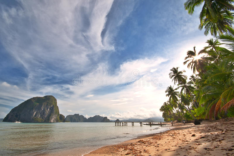 Praia exótica selvagem fotos de stock royalty free