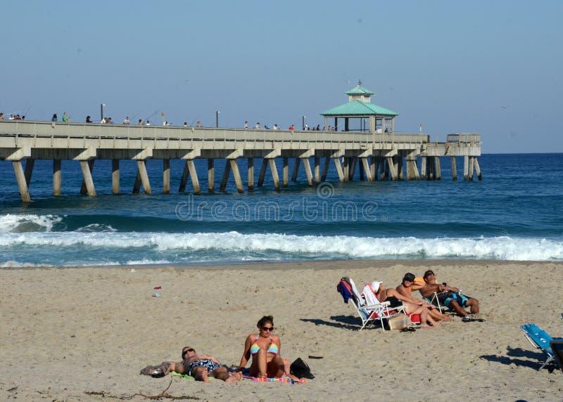 Praia Florida de Deerfield fotos de stock