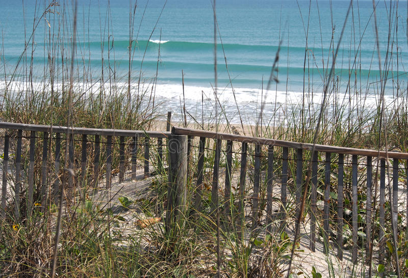 Praia Florida do cacau foto de stock