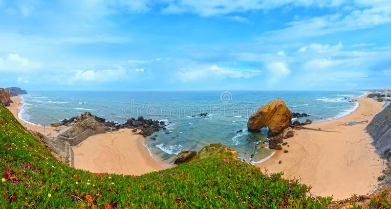 Praia gör Guincho, Santa Cruz, Portugal arkivbild