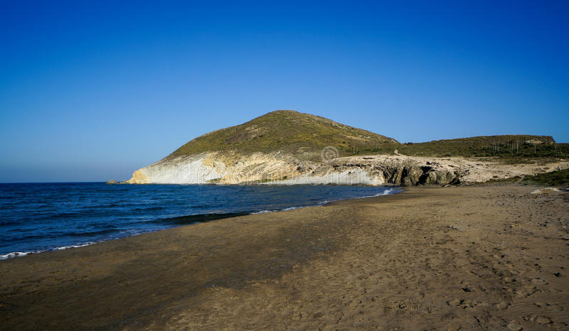 Praia Genoese no parque natural de Cabo de Gata-Nijar, Espanha imagens de stock royalty free