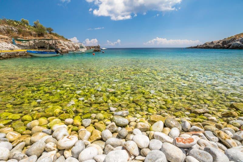 Praia Grécia de Kokkala foto de stock