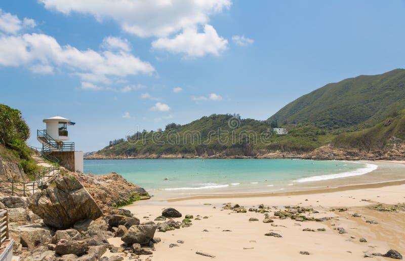 Praia grande das ondas em Hong Kong fotos de stock