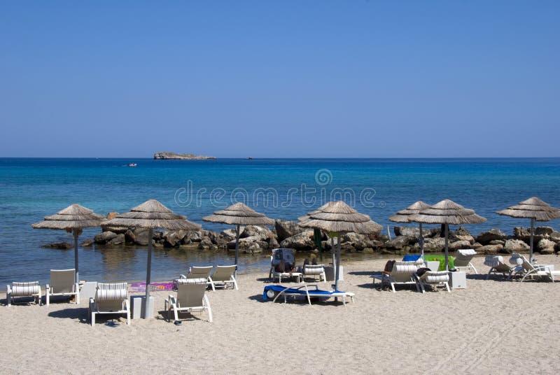 Praia grega foto de stock royalty free