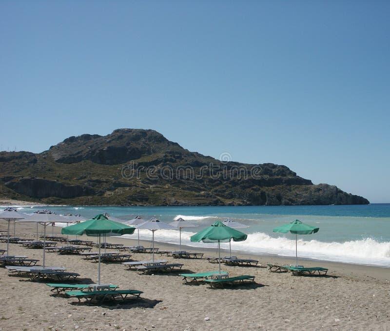 Praia grega fotografia de stock