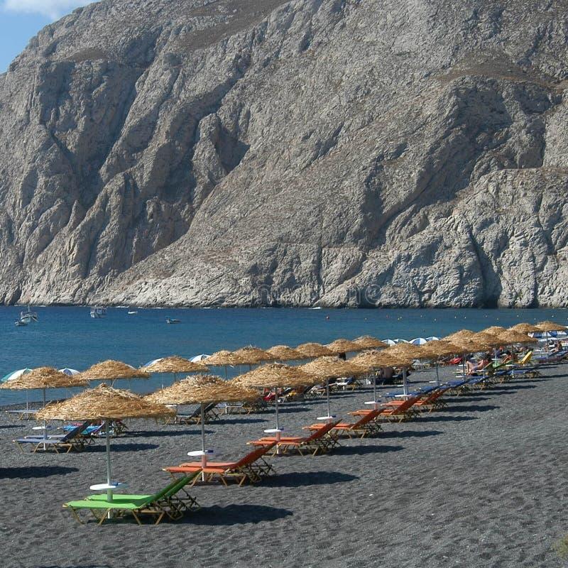 Praia grega imagem de stock