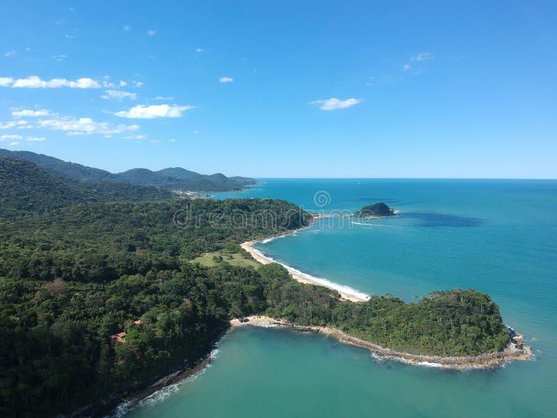 Praia Grossa στην πόλη Itapema στοκ εικόνα με δικαίωμα ελεύθερης χρήσης