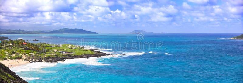 Praia havaiana foto de stock