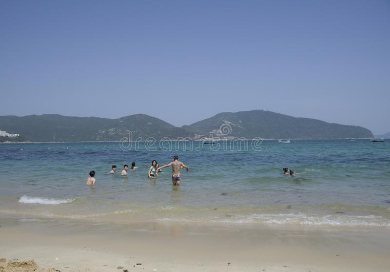 Praia Hong Kong de Stanley foto de stock