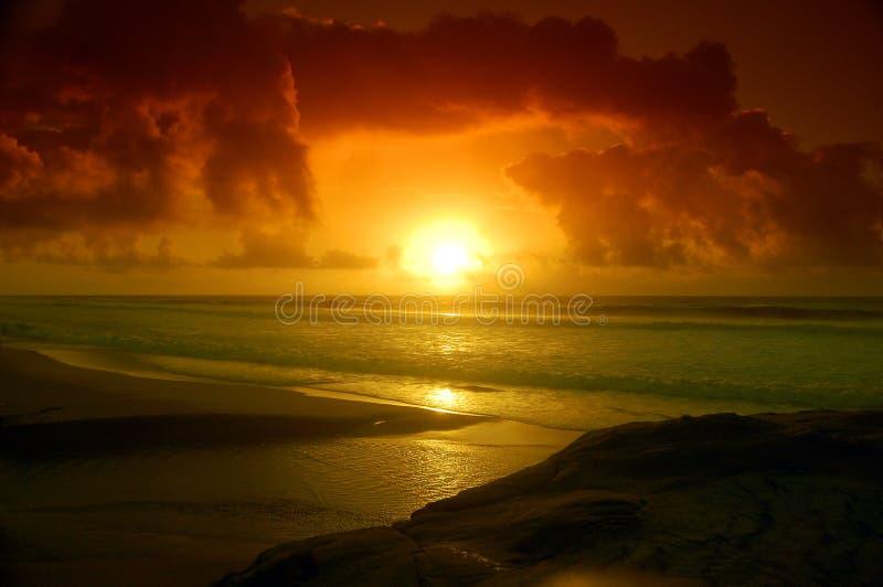 Praia ideal imagens de stock royalty free