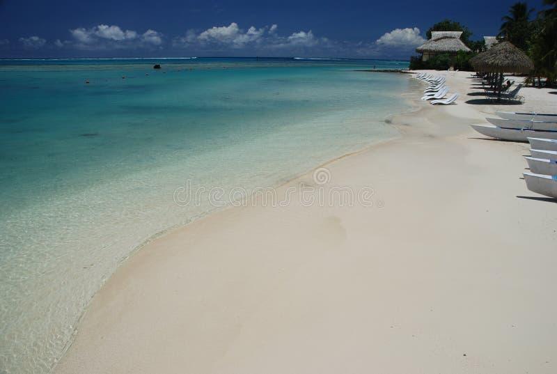 Praia ideal Moorea, Polinésia francesa fotografia de stock royalty free