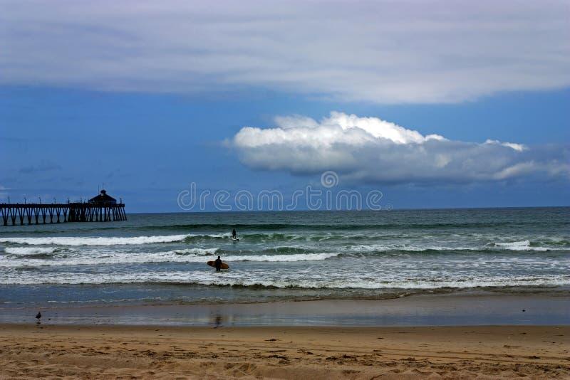 Praia imperial de Califórnia fotografia de stock